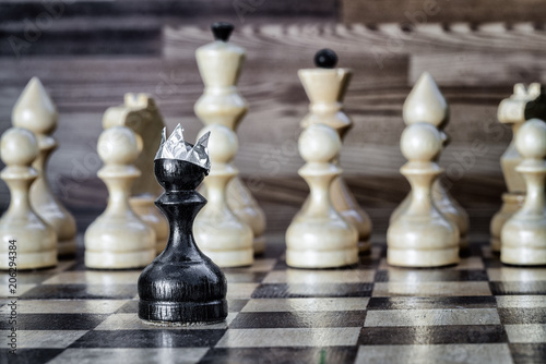 Fotografie, Obraz  Passing pawn on the chessboard