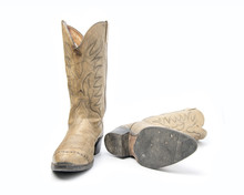 Brown Cowboy Boots Isolated On...