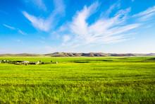 China Inner Mongolia Hulunbeier Prairie Landscape
