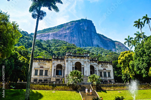 Parque Lage (or Parque Enrique Lage), in the city of Rio de Janeiro, Brazil Canvas Print