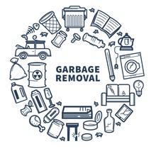 Garbage Removal Promo Monochro...