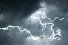 Rain Clouds With Lightening