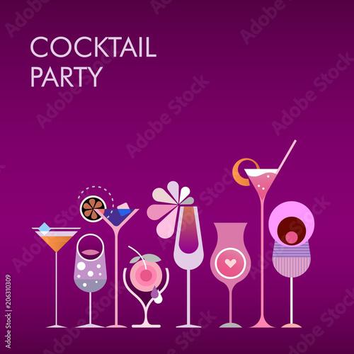 Staande foto Abstractie Art Cocktail Party vector gradient background