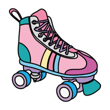 Color Roller Skate Style Fun Sport
