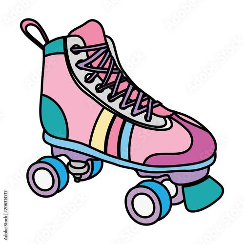 Fotomural color roller skate style fun sport