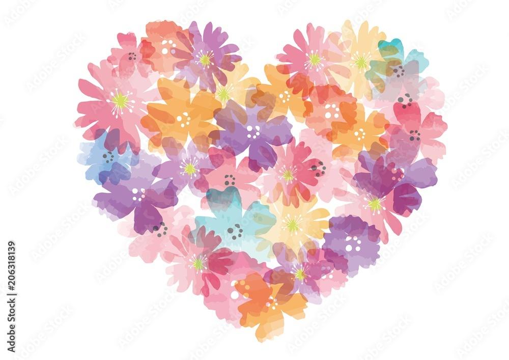 Flower Heart <span>plik: #206318139 | autor: nonohana</span>