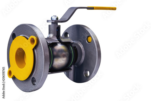 Платно the incision shut-off valve with manual control  isolated on white background