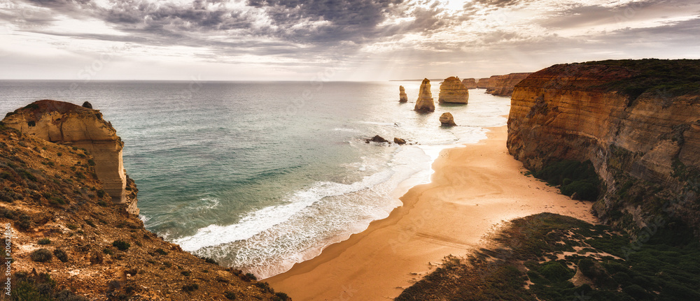 Fototapeta The sunset over the Twelve Apostles, Victoria,Australia