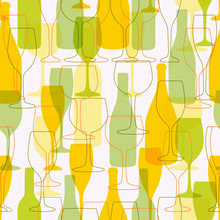 Seamless Background With Wine ...