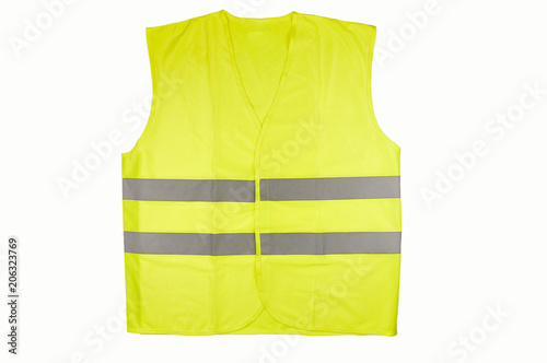 Fotografía Yellow vest isolated on black