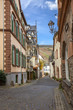 Beautiful old residential architecture in the small town Uerzig on the Moselle Rhineland Palatinate Germany