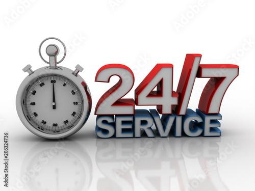 Fényképezés  3d illustration 24H service