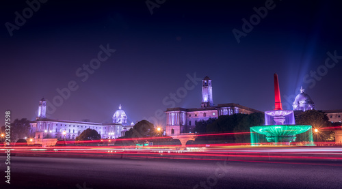 Photo  Light trails