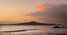 Rangitoto Island At Sunrise, A...