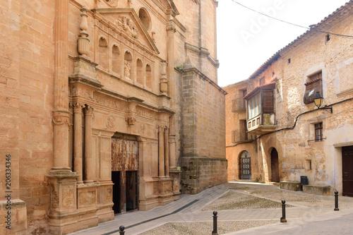 La Asuncion church of Cretas, Teruel province, Aragon, Spain Wallpaper Mural