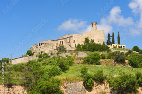 medieval village of Monfalco Murallat, la Segarra, LLeida province, Catalonia, Spain