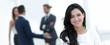Leinwanddruck Bild - closeup. Executive woman in the office