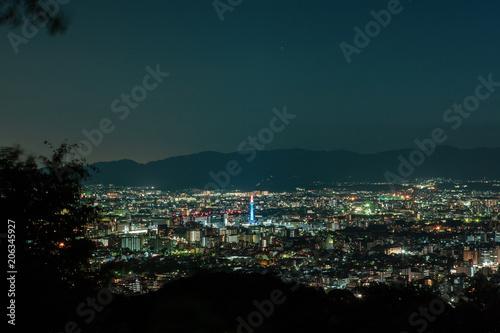 Papiers peints Kyoto Night view of Kyoto