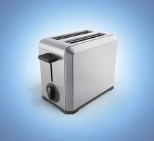 Grey Metal Toaster Without Sha...