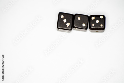 Vintage dices on a white background плакат