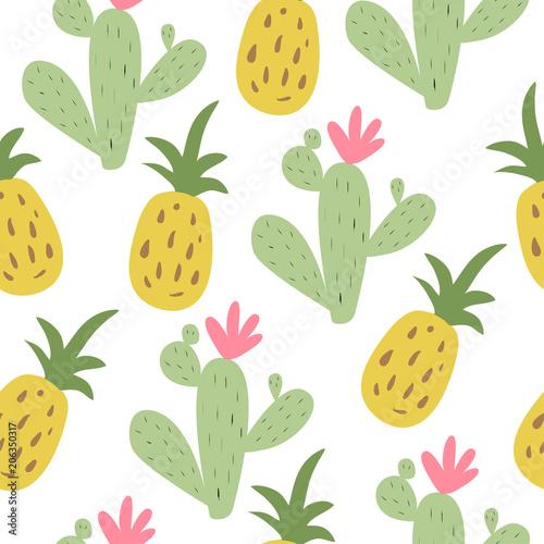 letni-nadruk-z-ananasem-i-kaktusem