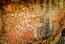 Ancient Aboriginal Painting Of...