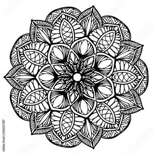Cotton fabric Mandalas for coloring  book. Decorative round ornaments. Unusual flower shape. Oriental vector, Anti-stress therapy patterns. Weave design elements. Yoga logos Vector.