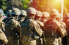 Military Soldiers In Bulletpro...