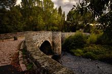 Pont Tordu (crooked Bridge) At Le Puy En Velay, France