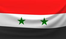 Waving National Flag Of Syria....