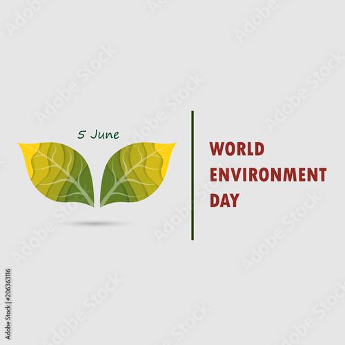 World Environment Day Concept Vector Logo Design TemplateJune 5st