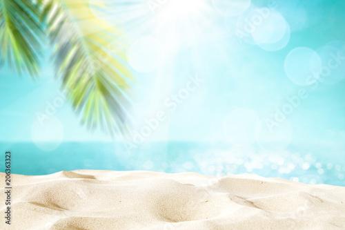 Montage in der Fensternische Licht blau beach background