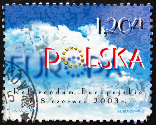 Fotografia  Postage stamp Poland 2003 Negotiations to Join European Union