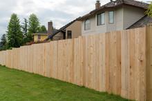 Cedar Wood Fencing Along Home ...