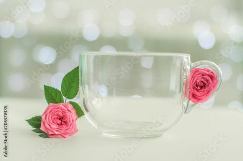 Fotografie, Obraz  Bol avec du lait et des roses