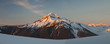 Panoramic view of snowcapped mountains against sky during sunrise at Garibaldi Park