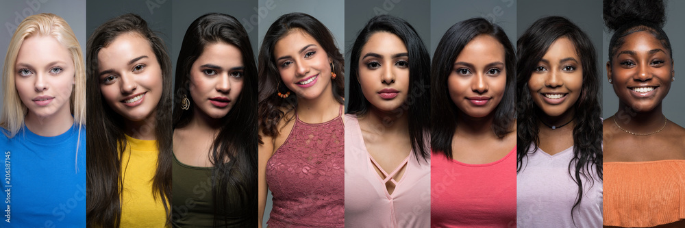 Fototapety, obrazy: Group Of Diverse Teen Girls