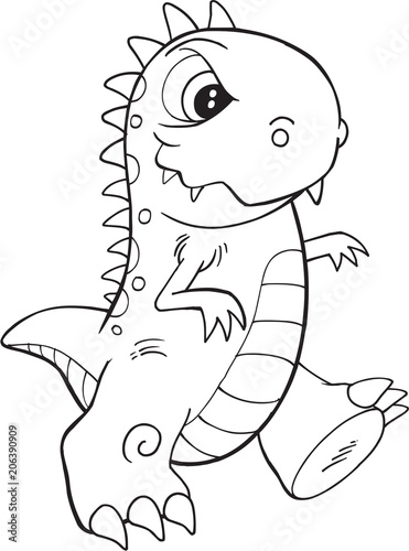 Fotobehang Cartoon draw Cute Monster Vector Illustration Art