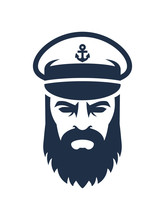 Captain Of The Ship. Sailor Head Icon