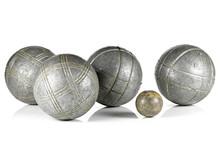 Vintage Petanque Balls Isolate...