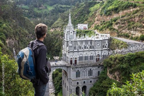 Obraz na plátne  Sanctuaire de Las Lajas, Ipiales, Colombie