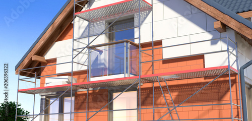 Obraz House and scaffolding v2 - fototapety do salonu