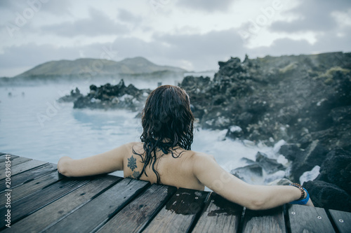 Fotografia, Obraz  Young girl at Blue Lagoon