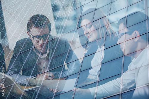 Fotografie, Obraz  Businessmen that work together in office
