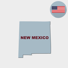 Map Of The U.S. State Of New M...