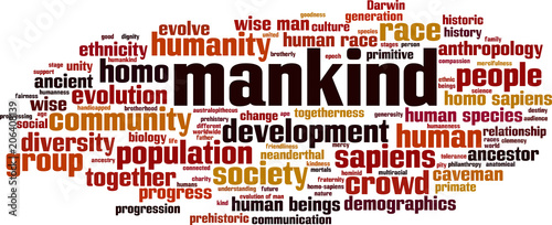 Fotografie, Obraz  Mankind word cloud