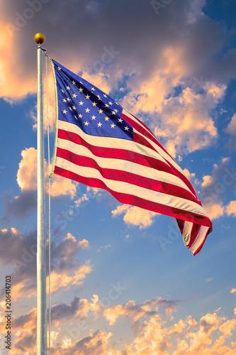 Photo American Flag Flying