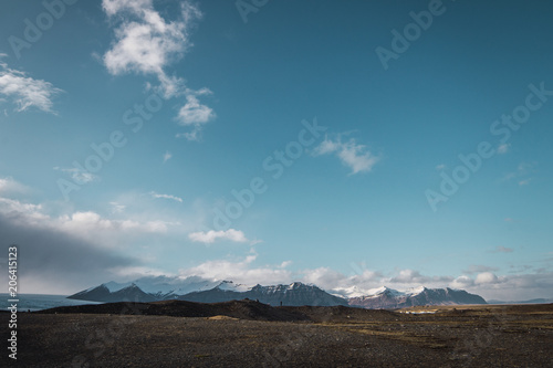 Beautiful sky and mountains landscape