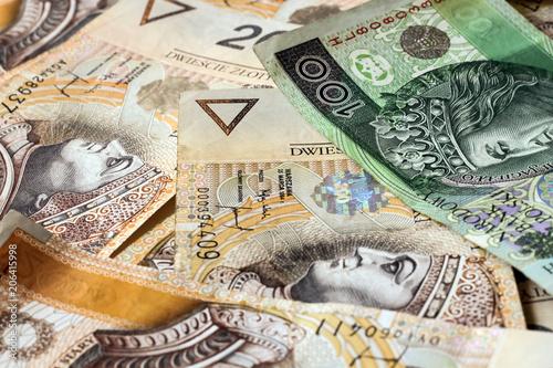 Fotografie, Obraz  polish money background