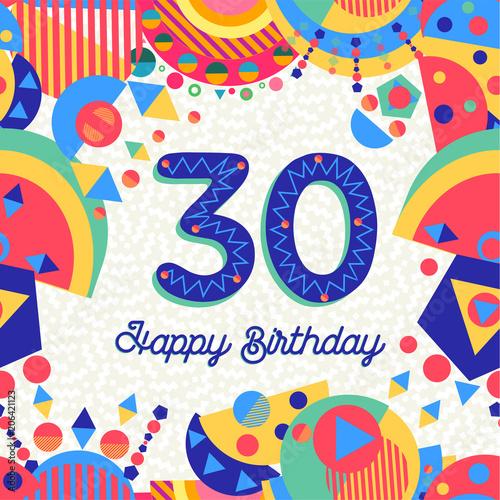 Fotografía 30 thirty year birthday party greeting card